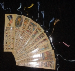 10 bookmarks printed Egyptian papyrus bookmark