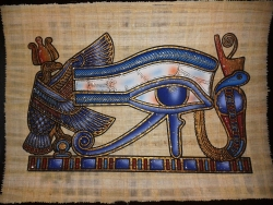 Eye of life painted papyrus