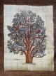 Tree of life painted papyrus