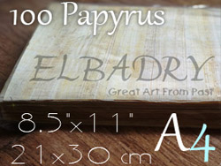 """10 Egyptian Papyrus Paper Blank Light color A4 papyrus size 8.5""""x11"""" Print on Egyptian papyrus paper at home"""