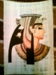 Cleopatra face painted papyrus